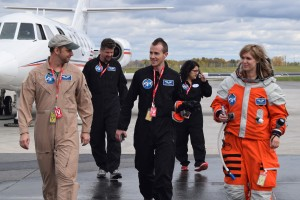 PoSSUM Flight test team after completion of successful microgravity research flight