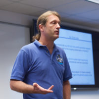 Dr. Jason Reimuller instructs PoSSUM Scientist-Astronaut Candidates (credit: Ross Lockwood)