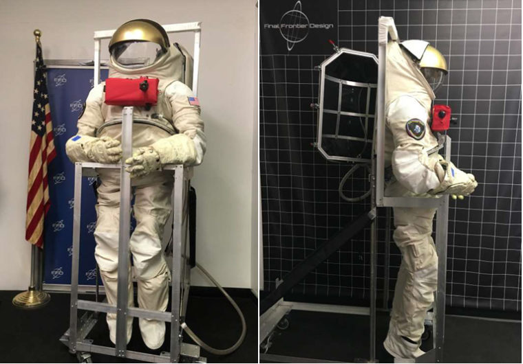 Final Frontier Design EVA Space suit prototype pressure vessel, to be tested as part of Project OTTER