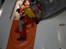 PoSSUM Spacecraft Egress and Post-landing survivability testing