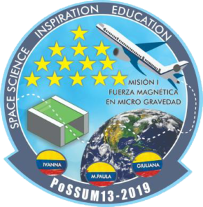 Mission patch of the Colombian PoSSUM 13 team, led by Hernandez.